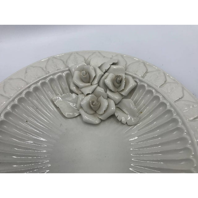 Italian 1970s Italian Ceramic Plate With Floral Motif Sculpture For Sale - Image 3 of 9