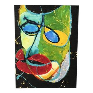Mid Century Modern Mask Painting
