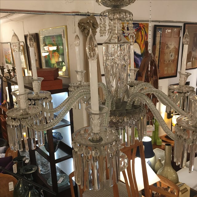Antique Eight Arm Crystal Chandelier - Image 6 of 11
