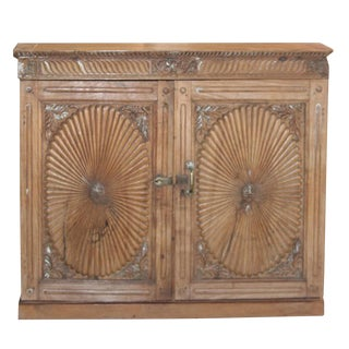 Indo-Portuguese Sunburst Buffet Cabinet For Sale