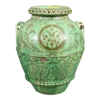 Italian Majolica Storage Jar For Sale