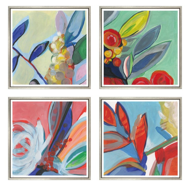 """Trowbridge """"Bouquet of Colour"""" Prints - Set of 4 For Sale - Image 9 of 9"""