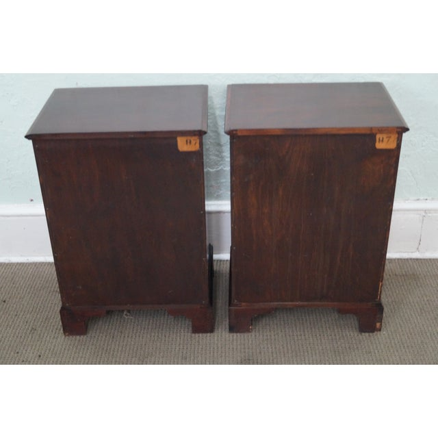1940s Chippendale Mahogany Nightstands - Pair - Image 4 of 10