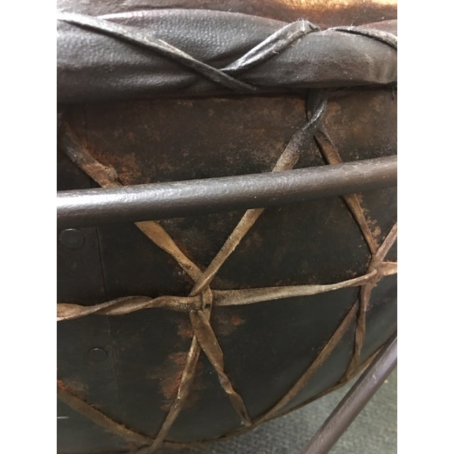 Metal African Drum Cocktail Table For Sale - Image 7 of 8