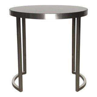 Contemporary Ligne Roset Chrome Side Table For Sale