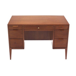 Mid-Century Modern Petit Compact Small Desk by Dunbar For Sale