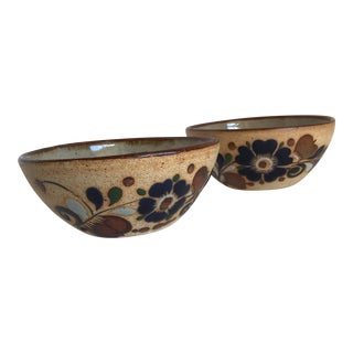 Mid-Century Mexican Pottery Bowls - A Pair For Sale