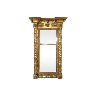 19th-Century Neoclassical Revival Giltwood Mirror For Sale