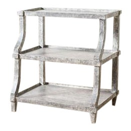 Modern Carlsbad Side Table Gray For Sale