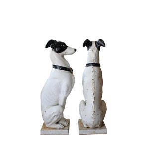"""Late 1890s Cast Iron """"Whippet"""" Dogs- a Pair Preview"""