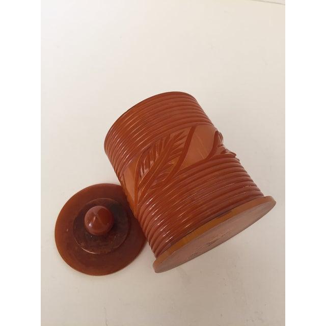 Bakelite Toffee Toned Bakelite Box For Sale - Image 4 of 5