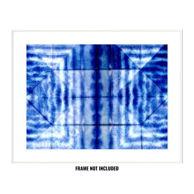 Abstract Bright Blue Abstract Artwork - Unframed Print For Sale - Image 3 of 8