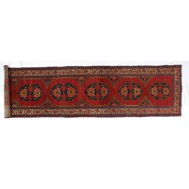 Textile 1920s Leon Banilivi Vintage Persian Mishan Malayer Rug - 3′8″ × 15′5″ For Sale - Image 7 of 7