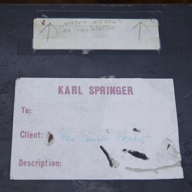Karl Springer Karl Springer Petrified Wood Side Table For Sale - Image 4 of 10
