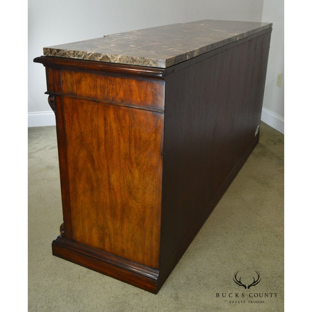 Brown Henredon Mahogany Empire Style Marble Top Sideboard For Sale - Image 8 of 13