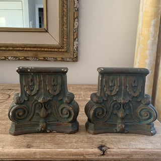 Vintage Neoclassical Column Plaster Bookends- a Pair Preview