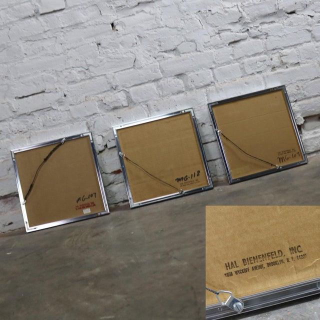 Pop Art Op Art Geometric Trio of Framed Mirror Wall Sculptures by Hal Bienenfeld For Sale - Image 12 of 13