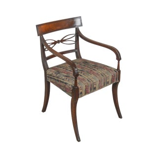 Regency Style Antique 19th Century Mahogany Arm Chair For Sale
