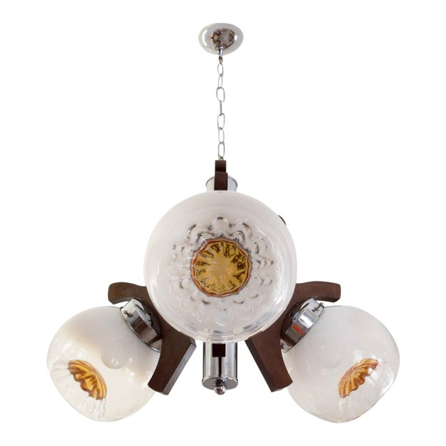 Vintage Murano Glass Ceiling Lamp, 1970s For Sale