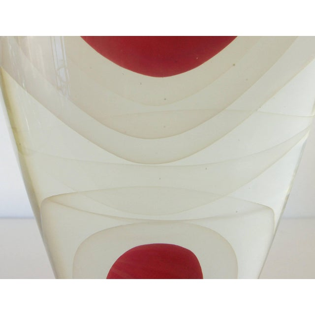 Romano Donà Red Sommerso Murano Glass Vase by Romano Dona For Sale - Image 4 of 8