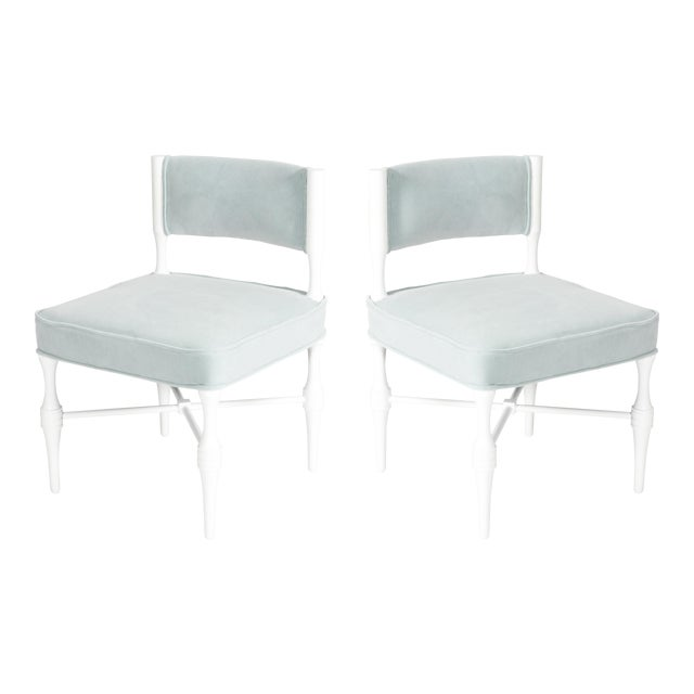 Tommi Parzinger Petite Slipper or Vanity Chairs - A Pair - Image 1 of 6
