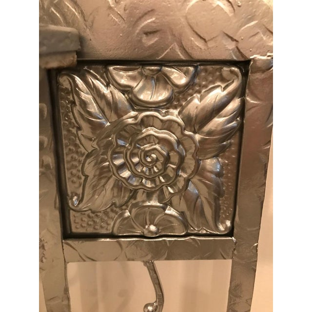 French Art Deco Hall Tree Coat Rack With Sabino Glass Light Sconce For Sale - Image 9 of 13