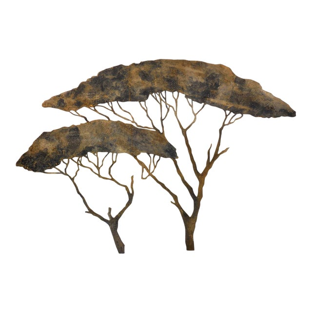 20th Century Theatre Scenery Trees Wall Sculpture For Sale