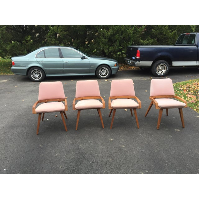 These 4 chairs (along with a Table and a Vitrine/Wall Unit in a separate listing) were given to me by my Great Aunt Agnes,...