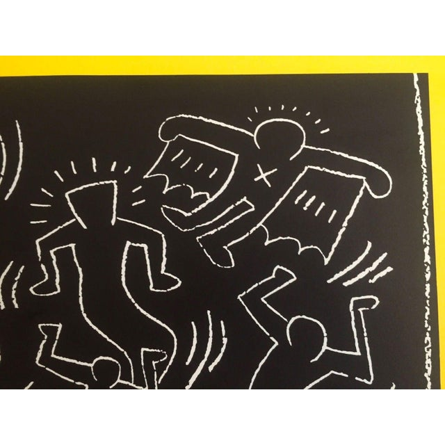 "Blue Keith Haring ""Future Primeval"" Original Offset Lithograph For Sale - Image 8 of 10"