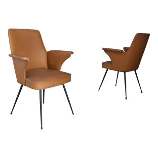 Pair of Chairs by Nino Zoncada From 1950. For Sale