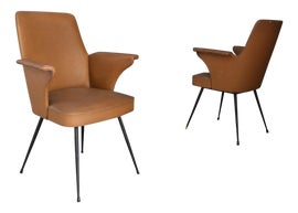 Image of Brown Club Chairs