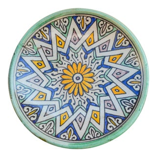 Ceramic Plate W/ Andalusian Motif For Sale