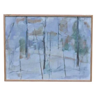 "Stephen Remick ""Winter Woods"" Painting For Sale"
