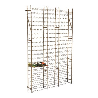 Extra Large French Steel Wine Crate or Mountable Cage For Sale