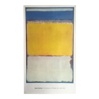 "Mark Rothko Vintage Abstract Lithograph Print Monumental Oversized Exhibition Poster "" No. 10 "" 1958"