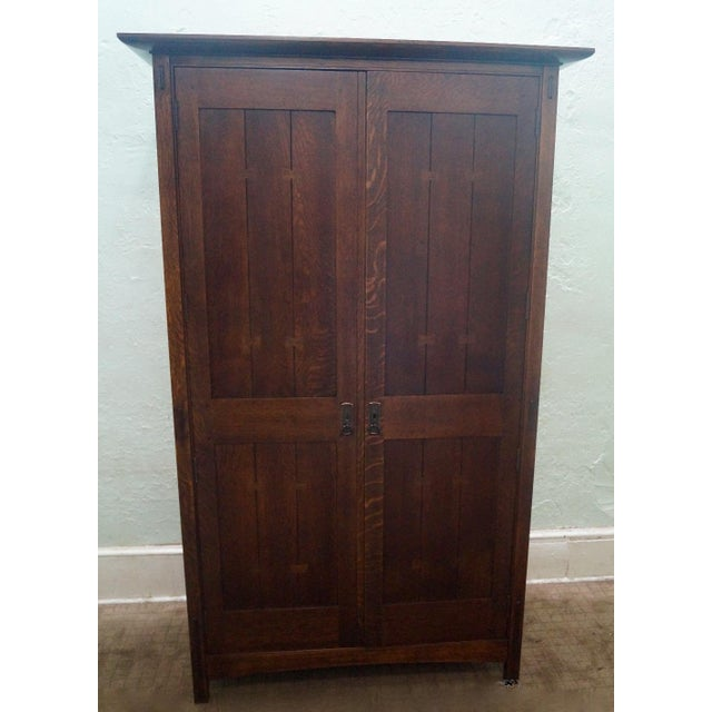 Stickley Arts & Crafts Armoire - Image 2 of 3