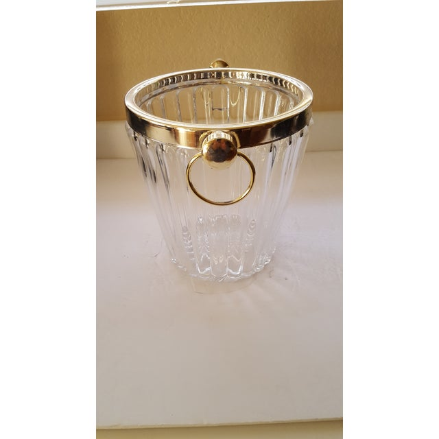 Beautiful Cut Crystal Champagne Bucket With Brass Trim. Makes a Statement With Your Favorite Bubbly.