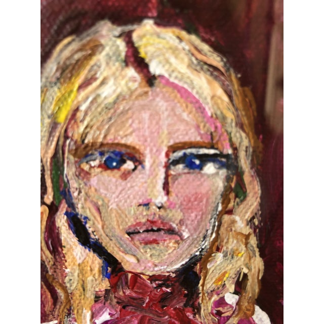 """Modern JJ Justice """"Blonde Beauty"""" Painting For Sale - Image 3 of 6"""