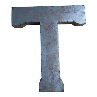 "Industrial Metal Letter ""T"""