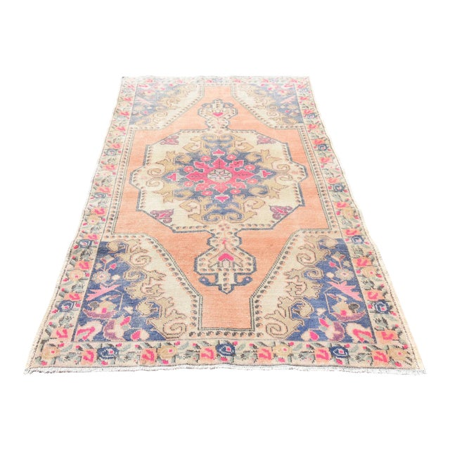 Muted Handwoven Nomadic Vintage Anatolian Oriental Rug - 4′4″ × 7′3″ - Image 1 of 6