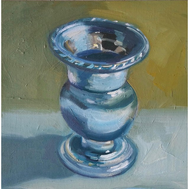 """Traditional """"Candle Holder"""" Oil Painting For Sale - Image 3 of 3"""