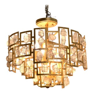Modern Rock Crystal Chandelier For Sale