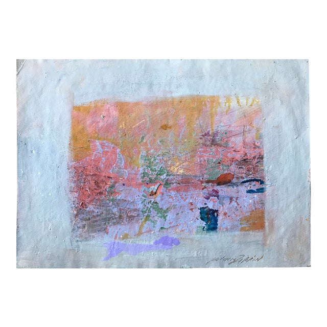 Pink, Purple and Gold 1980s Abstract Bay Area Artist For Sale