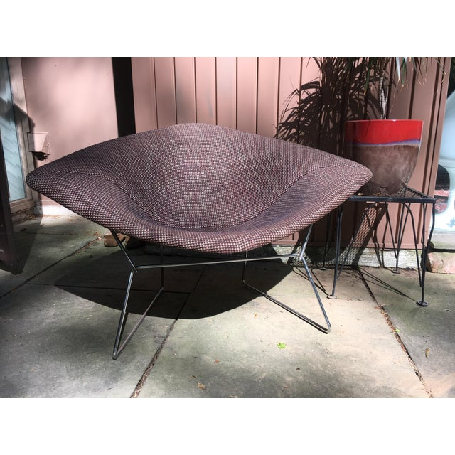 1970s Mid Century Modern Harry Bertoia for Knoll Diamond Lounge Chair - Image 2 of 8