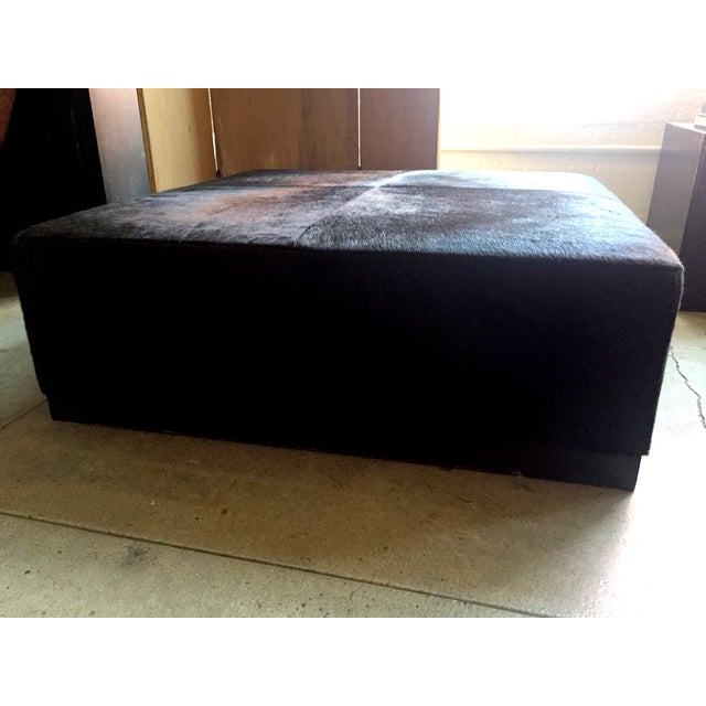 Cowhide Ottoman - Image 3 of 5