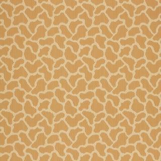 Sample - Schumacher Giraffe Wallpaper in Sienna For Sale
