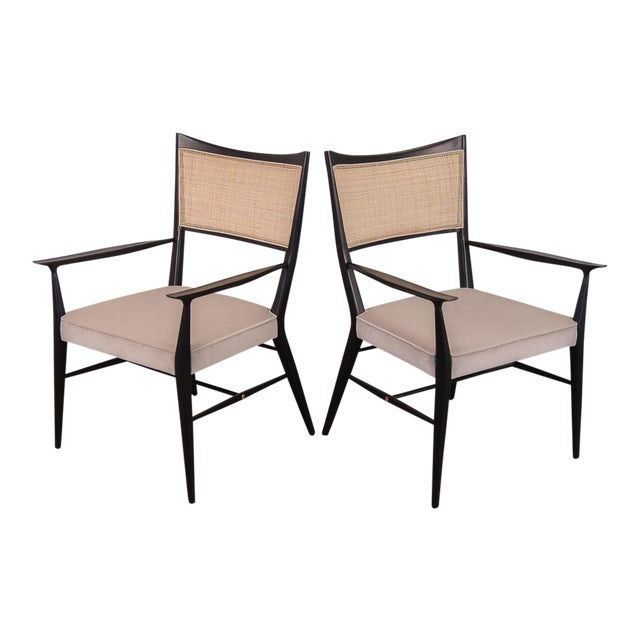 Paul McCobb Ebonized Occasional Chairs - a pair For Sale