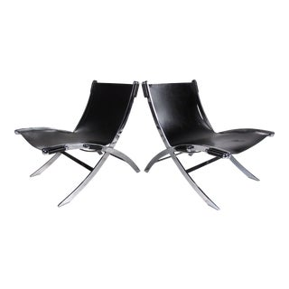 Pair of Mid-Century Modern Paul Tuttle Lounge Chairs For Sale
