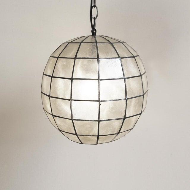 Capiz Globe Lantern - Image 2 of 3