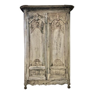 18th. C. French Renaissance Carved Armoire For Sale